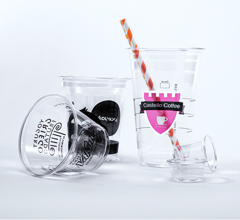PET plastic cups collection