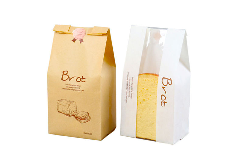 bread paper bags white and brown