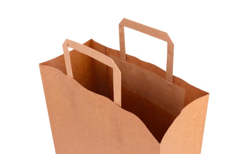 paper bag flat handles