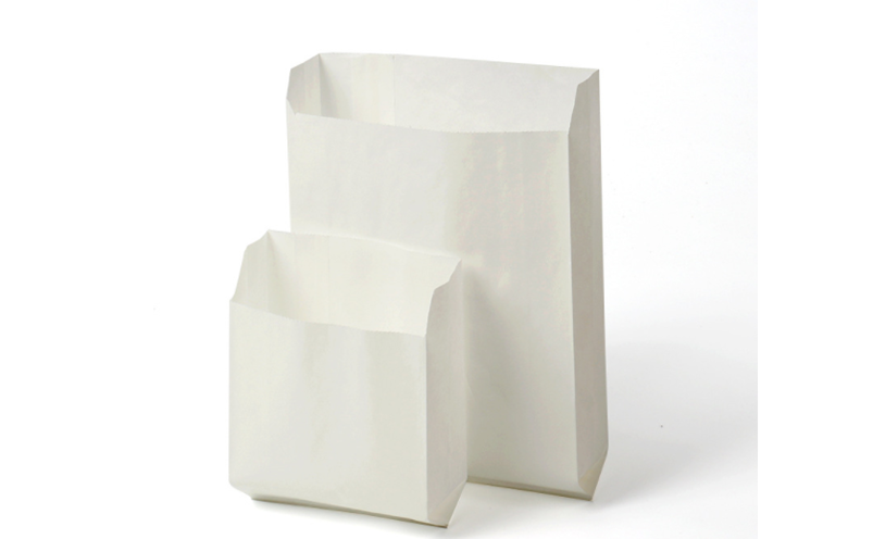 snack white paper bags
